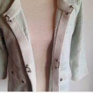 CAbi Sweaters - CAbi mint society knit cropped open cardigan